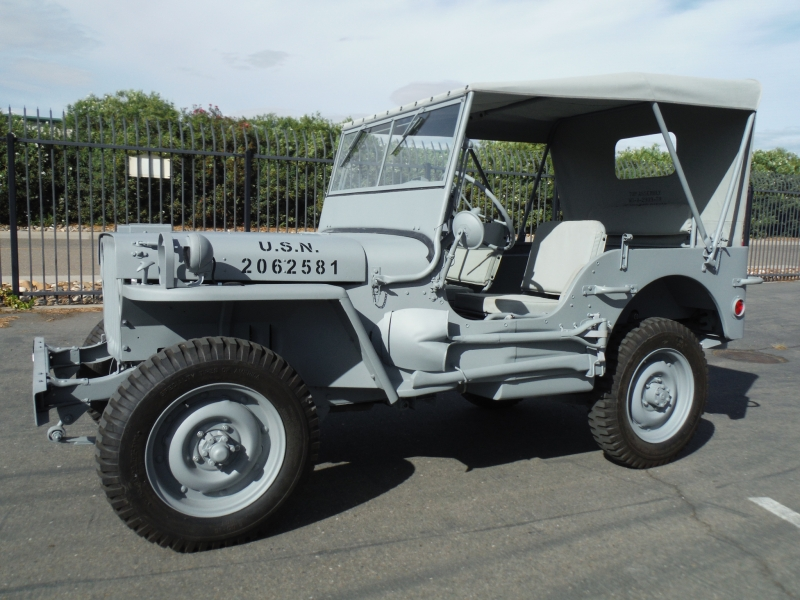 1943 Willys Mb Navy Jeep Classic Car Restoration Custom Car